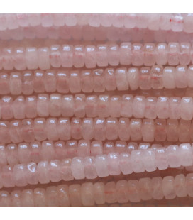 BeauMonde Jewelry - Quartz pink 2x4 mm washer heishi