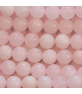 Calcite rose 8 mm perle ronde Chine