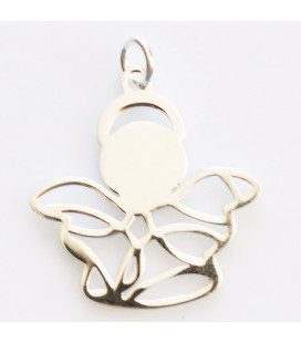 BeauMonde Jewelry - Flat angel 21x22 mm + ring for hanging