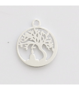 BeauMonde Jewelry - Flat medal 12 mm tree of life pendant ring