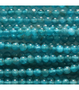BeauMonde Jewelry - Apatite 3 mm round bead Madagascar