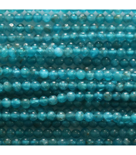 BeauMonde Jewelry - Apatite 2 mm round bead Madagascar