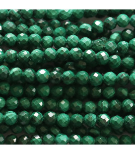 Malachite 3 mm round faceted bead Morocco