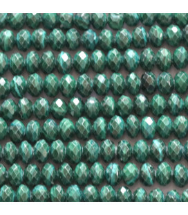 BeauMonde Jewelry - Malachite 4x2 mm faceted washer Morocco