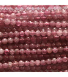 BeauMonde Jewelry - Tourmaline pink 2 mm round bead