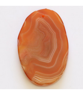 Agate about 53x38 mm sliced flat irregular