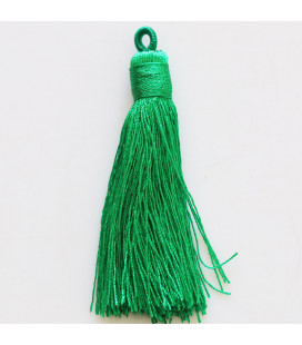 Pompom 65 mm with ring covered with wire