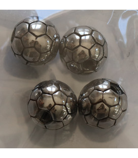 BeauMonde Jewelry - Bead 10 mm stainless steel soccer ball