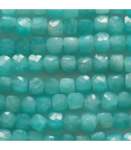 BeauMonde Jewelry - Amazonite 4x4x4 mm faceted square Africa