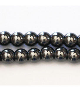 BeauMonde Jewelry - Hematite 8 mm round bead hole about 2 mm