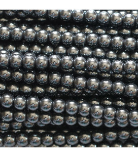 BeauMonde Jewelry - Hematite 4 mm round bead hole about 1.5 mm