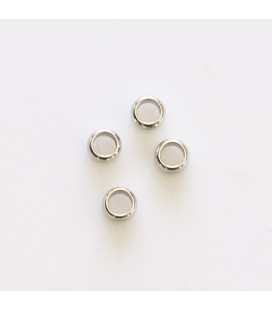 BeauMonde Jewelry - Bead round 4 mm hole 2.4 mm (can be used as a cover knot)