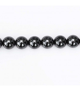 BeauMonde Jewelry - Hematite 8 mm round bead, hole about 3 mm