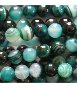 Sardonyx 8 mm round bead green / black