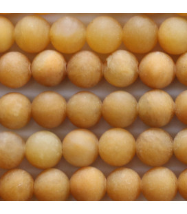 BeauMonde Jewelry - Jade yellow 8 mm matte round bead