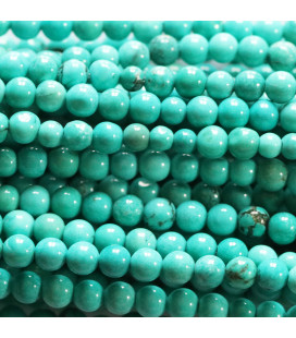 BeauMonde Jewelry - Howlite 3 / 3.5 mm round bead blue / green (new turquoise)