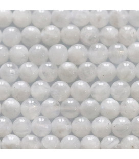 BeauMonde Jewelry - Moonstone 6 mm round cloudy white bead