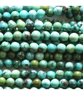 Turquoise 4 mm stabilized mixed round bead
