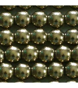 BeauMonde Jewelry - Golden hematite 8 / 8.3 mm round bead, hole of about 3 mm