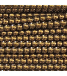 BeauMonde Jewelry - Golden hematite 3 mm round bead, hole of about 1.5 mm