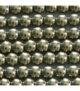 BeauMonde Jewelry - Golden hematite 6 / 6.5 mm round bead, hole of about 2.5 mm