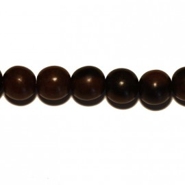 Tiger ebony round beads 12 mm
