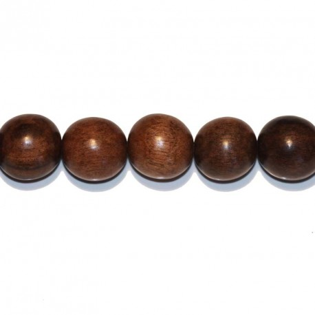 Tiger ebony round pearl 15/16 mm
