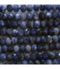 Sodalite 2.5x4 mm faceted washer