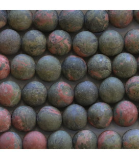 BeauMonde Jewelry - Unakite 8 mm matt round bead