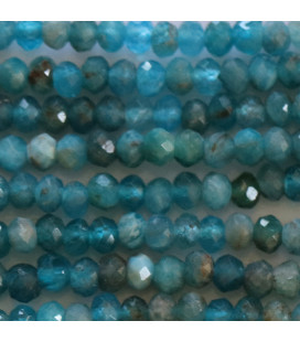 Apatite 3X2 mm light-colored faceted washer