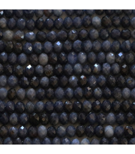 BeauMonde Jewelry - Sapphire 2x3 mm faceted washer