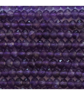 BeauMonde Jewelry - Amethyst 2x3 mm faceted washer