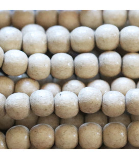 Round bead 8 mm natural