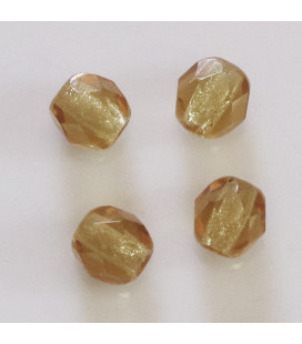 BeauMonde Jewelry - Bohemian faceted round bead 6 mm (in a packet)