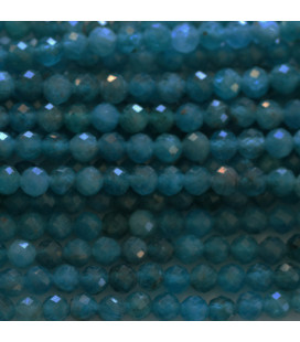 BeauMonde Jewelry - Apatite 4 mm round faceted bead Africa