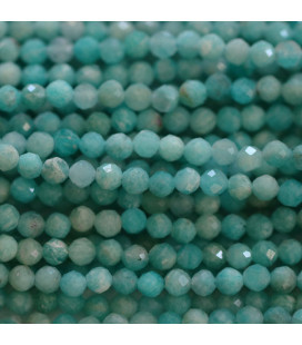 BeauMonde Jewelry - Amazonite 4 mm round faceted bead Africa
