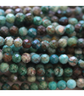BeauMonde Jewelry - Chrysocolla 3 mm faceted round bead