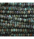 BeauMonde Jewelry - Turquoise Africa 2.5x4 mm faceted washer