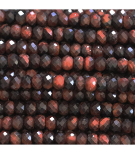 BeauMonde Jewelry - Tiger Eye 2.5x4 mm red faceted washer