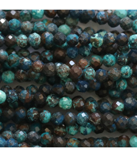 BeauMonde Jewelry - Chrysocolla 3 mm faceted tone blue
