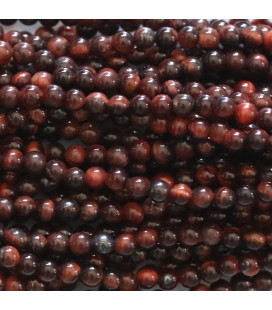BeauMonde Jewelry - Tiger's Eye  2 mm red