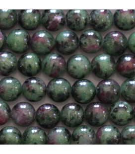 Rubyzoisite 8 mm round bead quality A