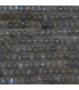 BeauMonde Jewelry - Labradorite 2.5X4 mm washer faceted