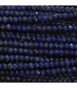 BeauMonde Jewelry - Lapis lazuli 2X3 mm faceted washer Afghanistan