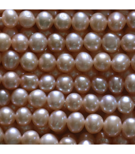 Freshwater pearl 6/7 mm pink round cultured bead