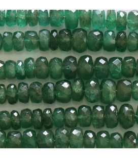 BeauMonde Jewelry - Emerald gradient thread from about 2mm to 4.5mm with faceted washers Zambia