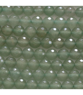 Aventurine 6 mm faceted round pearl