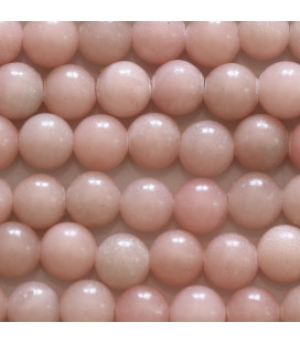 Aragonite pink 8 mm round bead Mexico