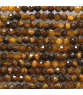 BeauMonde Jewelry - Tiger's eye 2 mm round faceted bead