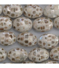 Mother-of-pearl mosaic oval pearl 13 X 18 mm